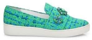Michael Kors Henna Jeweled Jacquard Skate Sneakers