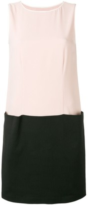 Emporio Armani colour block shift dress