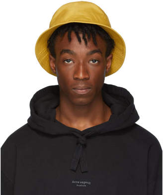 Acne Studios Yellow Buk Face Bucket Hat
