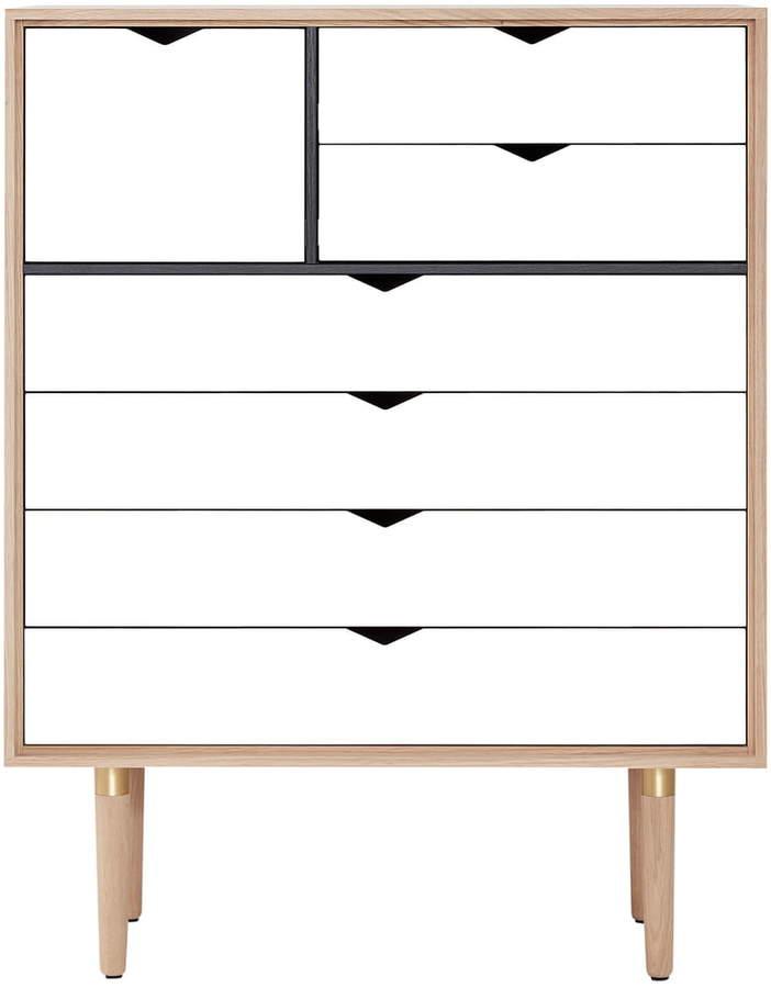 Andersen Furniture – S8 Kommode, Eiche geseift / Fronten Weiß