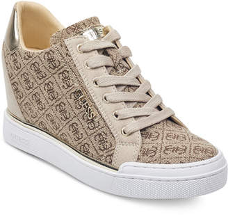 GUESS Women Flowurs Wedge Sneakers Women Shoes