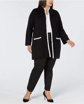 Alfani Plus Size Sweater Jacket