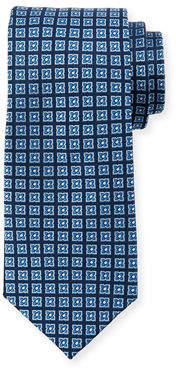 Neiman Marcus Flower Neat Silk Tie