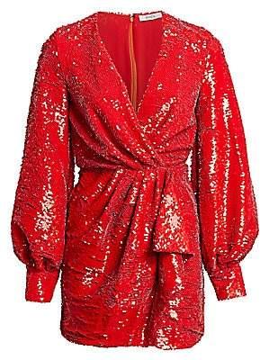 Amen Women's Sequin Wrap Mini Dress