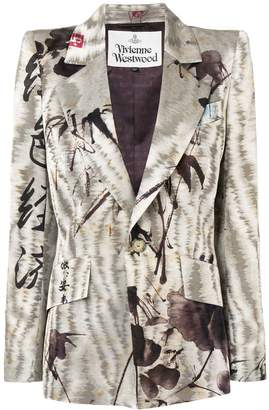 Vivienne Westwood embroidered fitted blazer