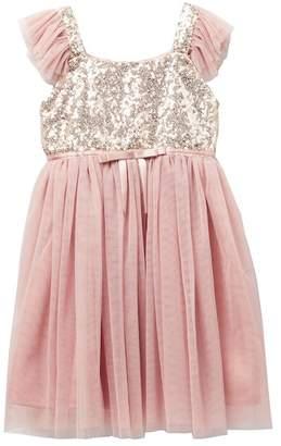 Popatu Sequin Bodice Tulle Dress (Toddler & Little Girls)