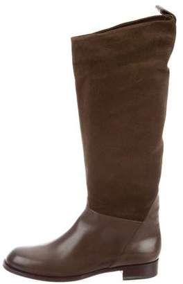 Santoni Suede Knee-High Boots w/ Tags