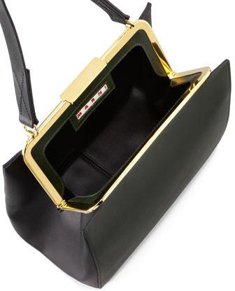 Marni Bicolor Framed Shoulder Bag