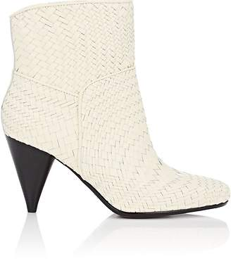 Derek Lam 10 Crosby WOMEN'S DANNIE BASKET-WEAVE LEATHER ANKLE BOOTS