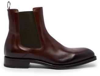 Alexander McQueen Leather Chelsea Boots - Mens - Brown