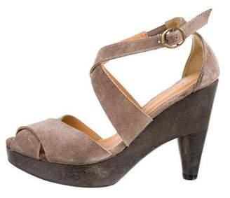 Coclico Suede Crossover Sandals