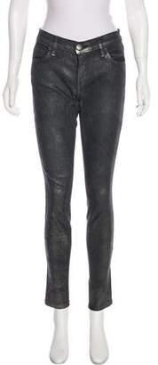 Current/Elliott Mid-Rise Metallic Jeans