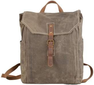 EAZO - Vintage Look Waxed Canvas Backpack Green