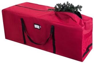 DTX Intl 1021 Elf Stor Premium Red Rolling Christmas Tree Storage Duffel Bag for 9 Ft Tree