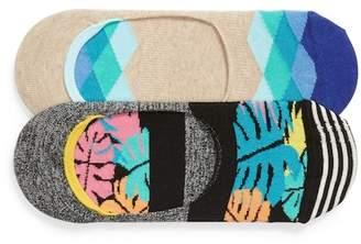 Happy Socks Jungle 2-Pack Liner Socks
