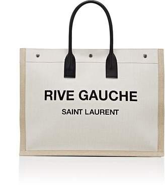Saint Laurent Women's Rive Gauche Large Canvas Tote Bag