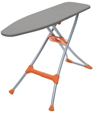 Homz Durabilt DB100 Steel Mesh Top Ironing Board, Silver/Orange