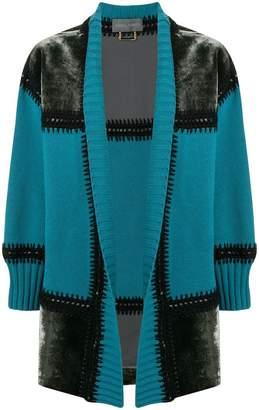 Alberta Ferretti patchwork cardi-coat