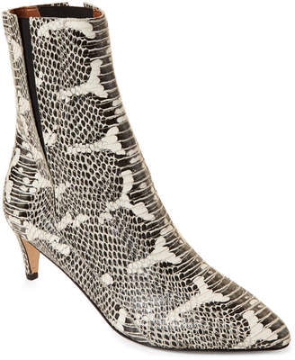 Atelier Atp Nila Snakeskin-Embossed Leather Ankle Boots