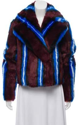 Diane von Furstenberg 2018 Collared Faux-Fur Jacket