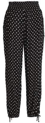 Tory Burch Bow-Detailed Jacquard Skinny Pants