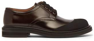 Marni Contrast Toe Leather Derby Shoes - Mens - Black
