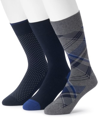 Marc Anthony Men's 3-pack Comfort Cuff Plaid Crew Socks