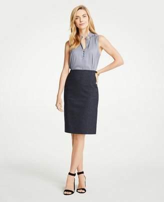 Ann Taylor Mini Check Pencil Skirt