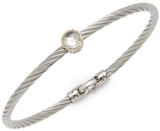 Alor Women's Stainless Steel Single White Topaz Bracelet