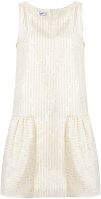 Blugirl striped glitter detail shift dress