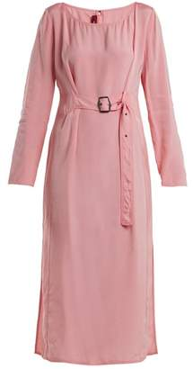 Sies Marjan - Hester Waist Belt Midi Dress - Womens - Light Pink