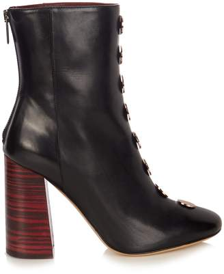 Ellery Esmond stud-embellished leather ankle boots