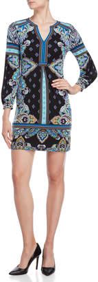 Hale Bob Paisley Jersey Sheath Dress