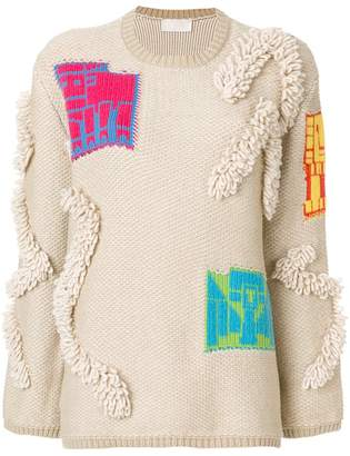 Peter Pilotto motif heavy knit sweater