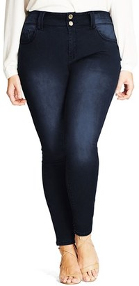 City Chic 'Asha' Stretch Skinny Jeans $89 thestylecure.com