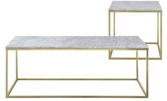Como White Marble Coffee & Side Table Set Model: 2018