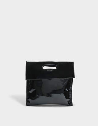 Helmut Lang Flap Bag in Black Patent Leather