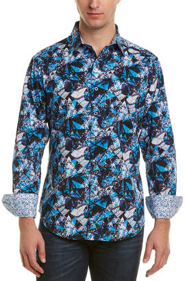 Robert Graham Classic Fit Trapped Woven Shirt