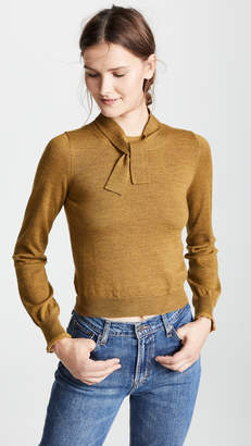 See by Chloe Tie Neck Flare Sleeve Sweater