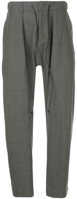 Attachment tapered belted trousers