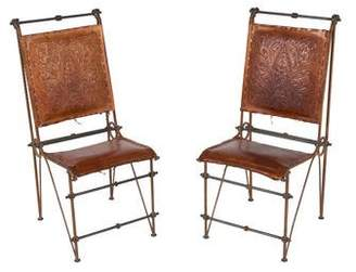 Pair of Iron and Leather Chairs Attributed to Ilana Goor