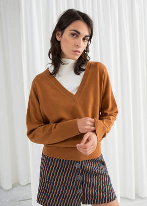 And other stories V-Neck Knit Sweater