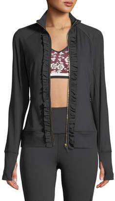 Kate Spade Ruffle Zip-Front Active Jacket