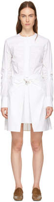 Carven White Poplin Belted Wrap Dress