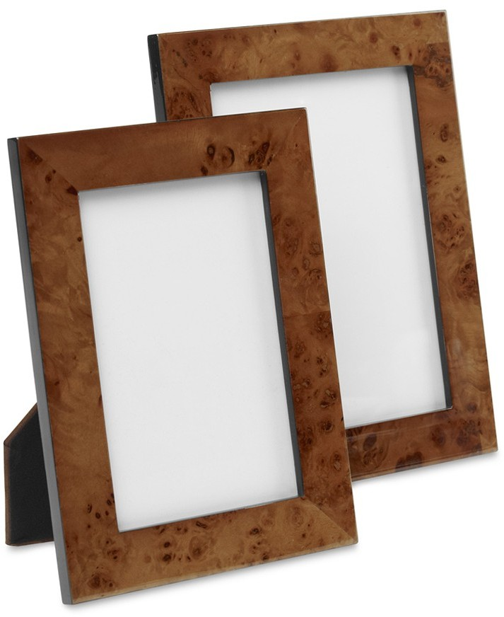 Williams-Sonoma Burled Wood Picture Frames