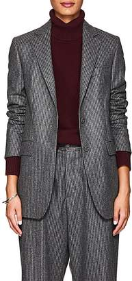 Officine Generale Women's Pinstriped Wool Flannel Blazer