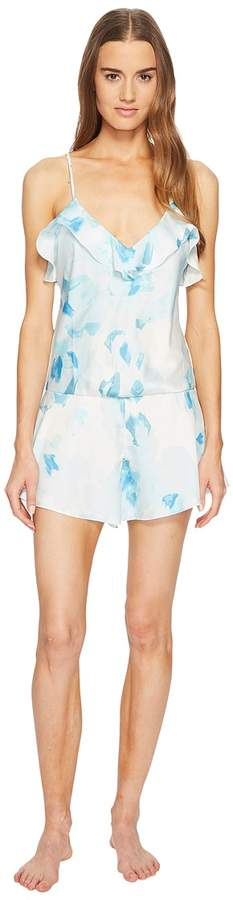 Kate Spade New York - Moroccan Rose Satin Romper Women's Jumpsuit & Rompers One Piece