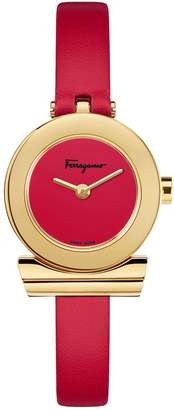 Salvatore Ferragamo Gancino Stainless Steel Leather-Strap Watch