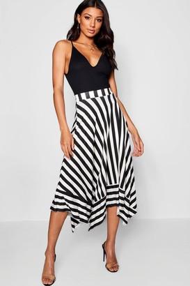 9e8113fb2 boohoo Contrast Stripe Full Midi Skirt