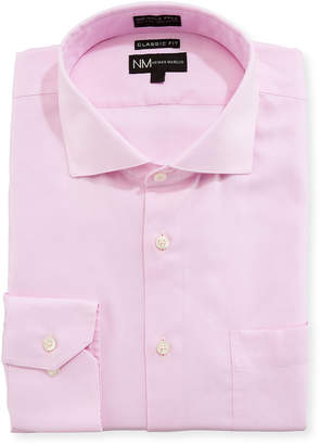 Neiman Marcus Classic Fit Non-Iron Oxford Dress Shirt, Pink